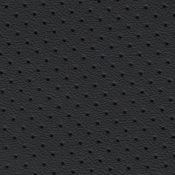 Clearance Leather Half Hide - Anthracite Perf