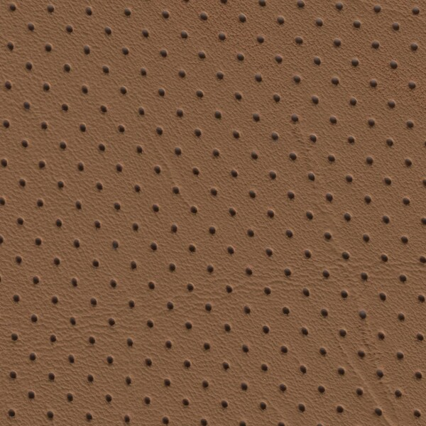 Clearance Leather Half Hide - Walnut Tan Perf