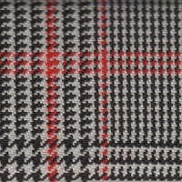 OEM Seat Cloth - Fiat 500 - Houndstooth (Red/Black)