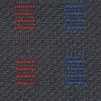 OEM Seating Cloth - Renault - Stripe Block (Grey/Red/Blue)