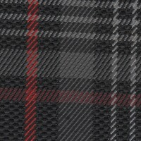 OEM Seating Cloth - Volkswagen Golf 7 - Tartan (Black/Red/Grey)