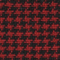 OEM Seating Cloth - Volkswagen Golf - Houndstooth (Black/Red)