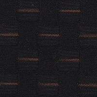 Car Seating Cloth - Black/Orange Square