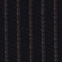 Car Seating Cloth - Black/Orange Velvet Stripe
