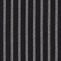 Car Seating Cloth - Black/Silver Stripe