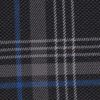 OEM Seat Cloth - Volkswagen Golf 7 - Tartan (Black/Grey/Blue)