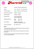 Martrim Vinyl Hooding Safety Specification Sheet